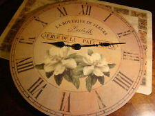 Lovely Large 14 Inch Victorian Wall Clock W/Flower Design Works Take A Look!