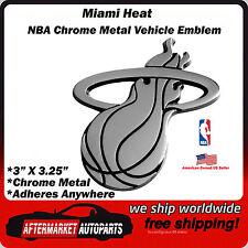 Miami Heat NBA Chrome Metal Car Auto Emblem Team Decal Logo Ships Fast