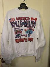 Vtg Toronto Blue Jays MLB World Series Champions 1992 Crew Neck Sweater Size XL