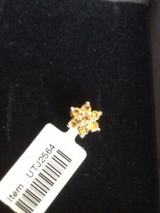 "WHITE GOLD CITRINE PENDANT - Hallmarked - By ""Coloured Rocks"" -  BNWT -Boxed"