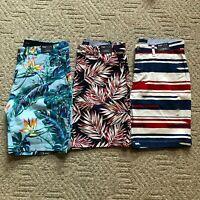 "NWT Tommy Hilfiger Men's THFLEX 9"" Fashion Tropical Floral Casual Chino Shorts"