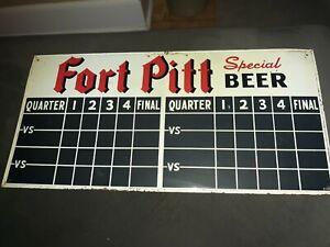 Vintage Fort Pitt Beer Brewery Baseball Football Basketball Advertising...
