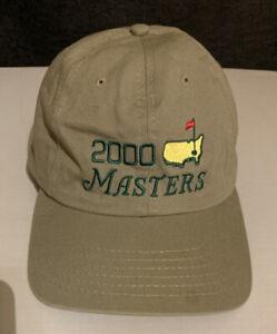 Masters Augusta Golf Cap Baseball Strapback Hat Men OSFA Khaki Tan Beige 2000