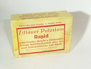Zittauer Putzstein Rapid For Car Workshop Household Cleaning Product 1930er