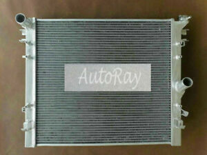 Aluminum Radiator +Fan For Jeep Wrangler JK 3.6L ERB 206 & 3.8L EGT 2007-2017 MT