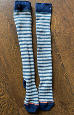 Stance Womens Long Knit Socks Blue And White Stripe