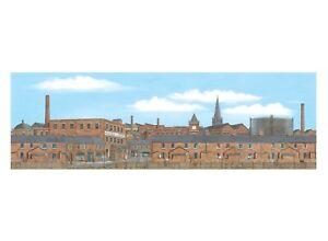 Peco SK-25 Old Industrial Town Centre Backscene