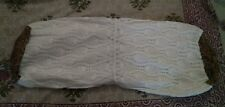 Linen Lace Bolster Cover