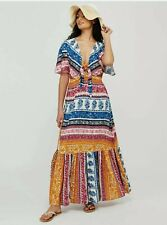 New MONSOON Size 16 18 20 ( L ) PRINT MAXI DRESS - HIPPY BOHO FESTIVAL BEACH