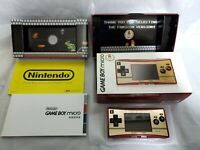 Nintendo GameBoy micro 20th Anniversary Edition Red Gold Famicom Version OXY-001