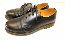 Mens DR. MARTENS Black Leather Doc Low Brogue Shoes Size UK 8 - SA9