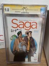 IMAGE COMICS Saga #1 First Print CGC 9.8 Signed & Sketches! RARE!