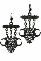 Restyle Fortune Teller Pentagrams Crescent Moons Gothic Witch Pagan Earrings