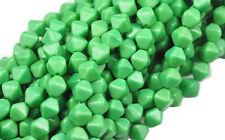 50 Jade Green Bicone Czech Glass Beads 6MM