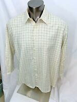 Barbour Cotton Plaid Checks Button Front casual shirt Large Comfort Fit