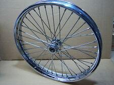 "21"" x 1.85"" Ball Spool Hub Wheel with 5/8"" Bearings HD Harley Bobber Chopper Tri"