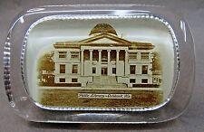 circa 1900 PUBLIC LIBRARY Building OSHKOSH WISCONSIN glass paperweight