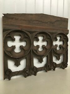 Stunning 19th C. Gothic Tracery Fragment/ panel in oak nr3