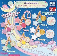 Takara Tomy Sanrio Little Twin Stars Kiki Lala Charm Keychain Set 6pc USA SELLER