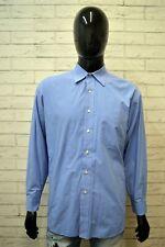 Camicia Blu Uomo TOMMY HILFIGER Taglia XL Maglia Polo Camicetta Chemise Hemd