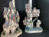 David Winter Cottages Crack The Code Lot Treasure Cove & Signed Kings Fissure