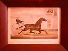 "Currier & Ives ""The Celebrated Trotting Mare Lucy "" c. 1870's Original  Framed"