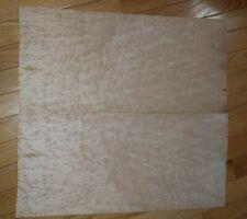 "Birdseye maple veneer 2 pieces are 22 1/4"" x 10 1/8"" each wood guitar luthier"