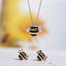 925 Sterling Silver Korean Fashion Cute Bee Exquisite Creative Female necklace