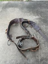 Lot Of 3 Buckingham Pole Climbing Belts For Parts.