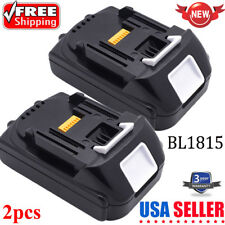 2PCS Battery for MAKITA BL1815 BL1835 BL1830 1500mAh 18V Li-ion 194230-4 LXT400