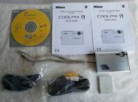 Nikon Coolpix S9 Slim Point Shoot Digital Camera 6.0 MP 3x Optical Zoom w/ Batte