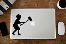 banksy con martillo Pegatina vinilo para Apple MacBook Aire / Pro portátil 11""