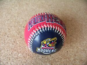 Toledo Mud hens baseball ball MiLB red black Detroit Tigers affiliate MLB c37452