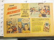 New listing newspaper ad 1948-1950 CAMEL cigarette ice skating skates couple on a date