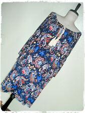 Naif Bohemian Boho Floral Paisley Bell Sleeve Peasant Shift Dress 1X