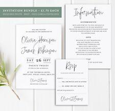 25 Handmade Personalised Wedding Invitations Day/Evening