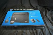 "Hp Ultimate Laptop Accessory Kit H2500 Headset 15.6"" Sleeve Mouse Nib New -A7"