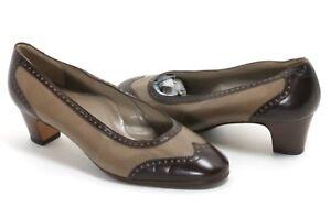 Elegant Vintage Pumps Heel Leder Budapester Comfort Shoe Alexandria Italy 38,5