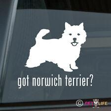 Got Norwich Terrier Sticker Die Cut Vinyl