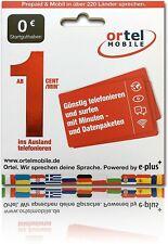 Prepared Ortel Mobile Prepaid E-Plus SIM-Karte o2 SIM Karte