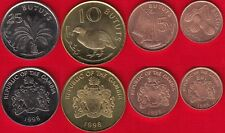 Gambia set of 4 coins: 1 - 25 bututs 1998 UNC