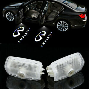 2x Logo LED Door Light Laser Projector for INFINITI FX37 FX35 Q50 M35 G37 QX80