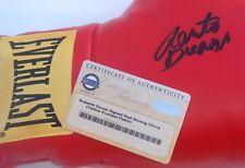 Boxer Roberto Duran Signed Yellow Everlast Patch Boxing Glove Steiner CERT
