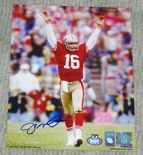 JOE MONTANA Signed San Francisco 49ers 8x10 Photo w/ Montana Hologram