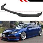 For 17-2021 Honda Civic Si Hatchback Jdm Matt Black Front Bumper Lip Splitter