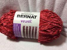 Yarnspirations Bernat Velvet Yarn Red  10.5 oz