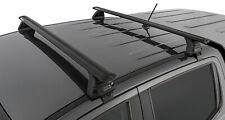 Rhino Pair ROC25 Roof Racks FORD Ranger 4dr Ute PX 1 2 & 3 2011 On Black