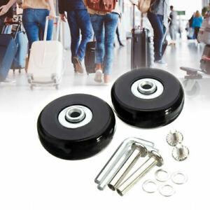 2 Stück Gepäck Koffer Ersatz Räder Achsen OD 40-90mm Reparatur Mute Gummi Rollen