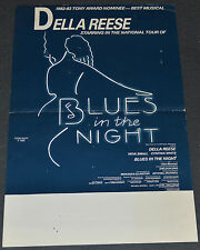 BLUES IN THE NIGHT 1982 ORIG. 14x22 THEATER POSTER! DELLA REESE BROADWAY MUSICAL