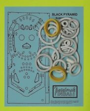 1984 Bally / Midway Black Pyramid pinball rubber ring kit